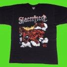 SACRIFICE - Torment in fire T-SHIRT Black (L) NEW heavy thrash death metal