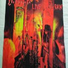 W.A.S.P. - Live... In the raw FLAG Heavy thrash death METAL cloth poster