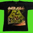 OVERKILL - The grinding wheel T-shirt Black (M) NEW heavy thrash death metal