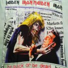 IRON MAIDEN - Be quick or be dead FLAG Heavy thrash death METAL cloth poster