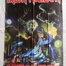 IRON MAIDEN - No prayer on the road 1990/91 FLAG Heavy thrash METAL cloth poster