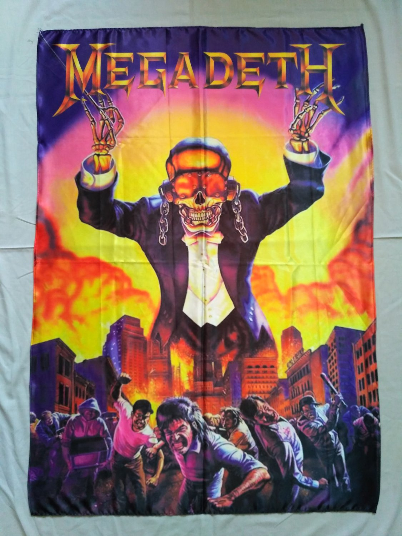 MEGADETH - Symphony of destruction FLAG Heavy thrash METAL cloth poster