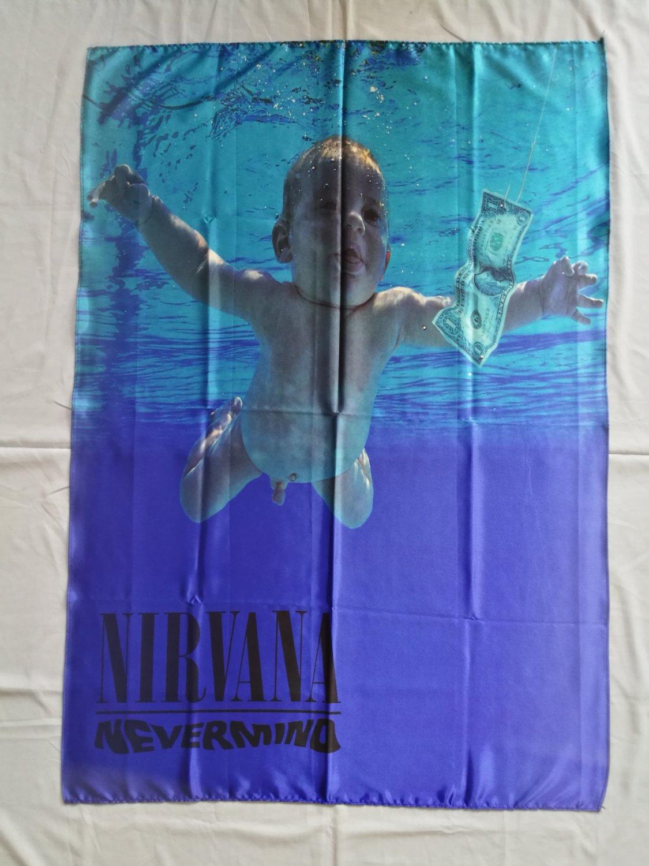 NIRVANA - Nevermind FLAG Heavy thrash death METAL cloth poster