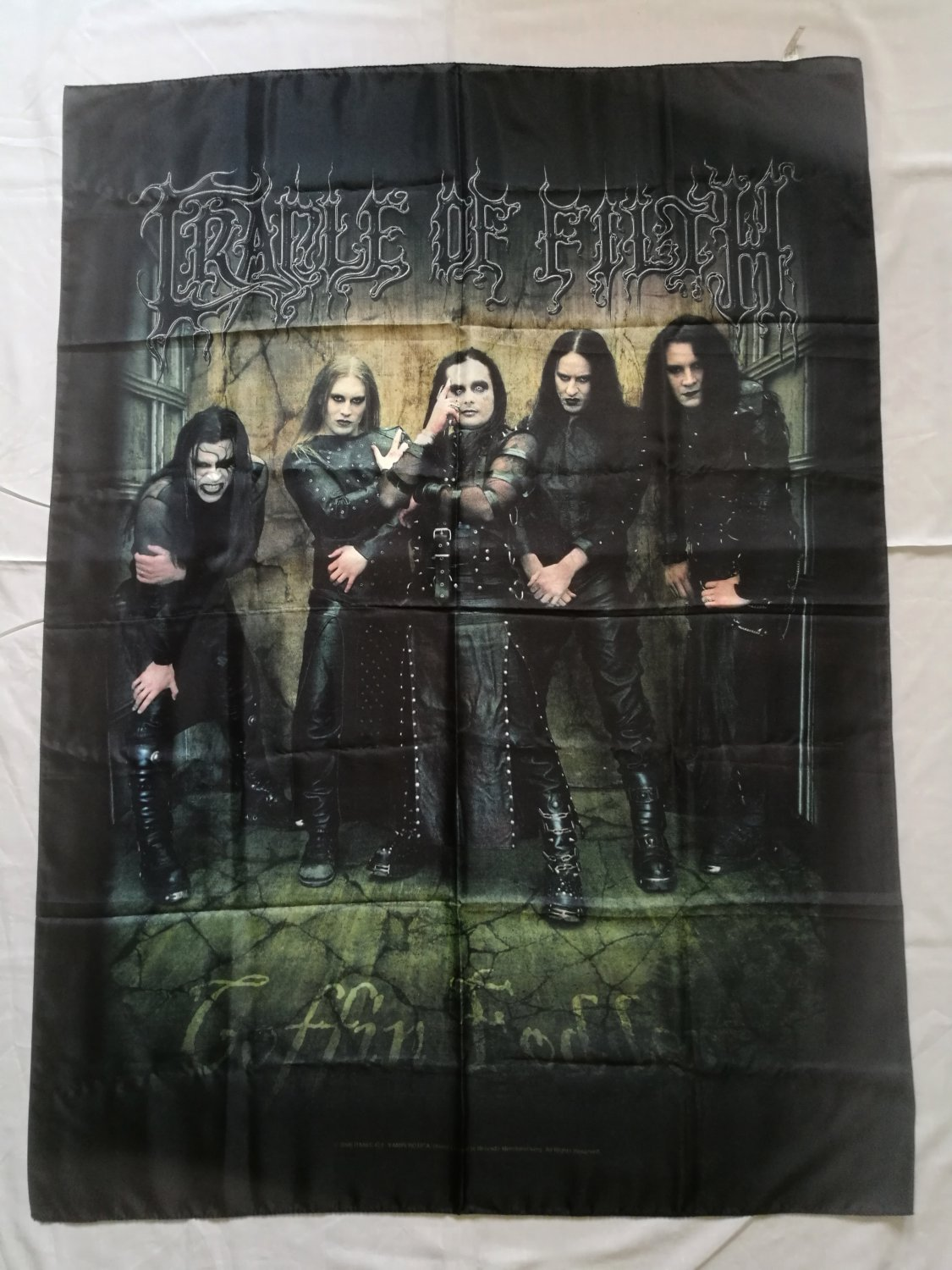 CRADLE of FILTH - Coffin fodder Official lincensed FLAG Heavy thrash death METAL cloth poster