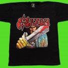 SAXON - Saxon T-shirt Black (L) NEW heavy thrash death metal