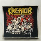Kreator - Pleasure to kill rubber patch vintage 80's 90's very rare collection