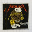 Metallica - Damaged justice Rubber patch vintage 80's 90's very rare collection