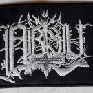 ABSU - White Logo EMBROIDERED PATCH BLACK DEATH THRASH HEAVY METAL
