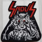 SADUS - Twisted Face EMBROIDERED PATCH BLACK DEATH THRASH HEAVY METAL
