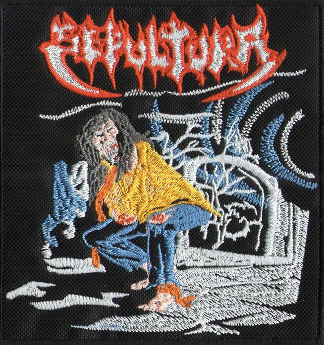 SEPULTURA - Escape To The Void EMBROIDERED PATCH BLACK DEATH THRASH HEAVY METAL