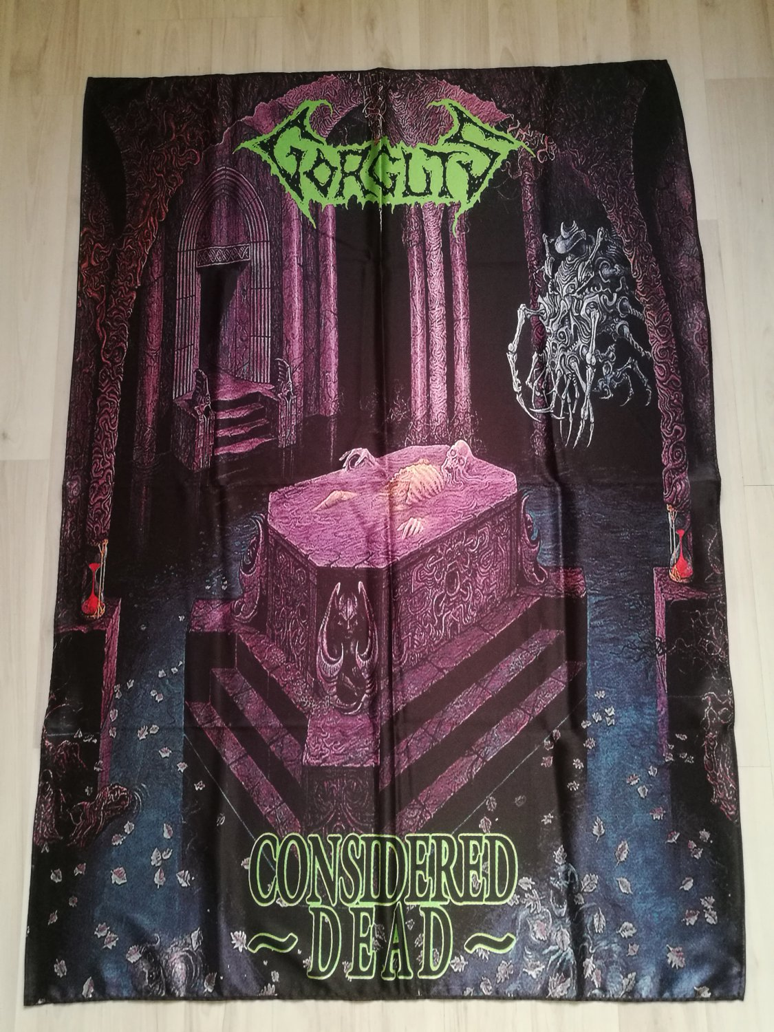 GORGUTS - Considered dead FLAG Heavy death metal cloth poster