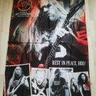 SLAYER - Hanneman Rest in peace bro FLAG Heavy death metal cloth poster