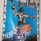 SACRED REICH - Surf Nicaragua FLAG Heavy death metal cloth poster