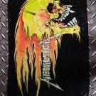METALLICA - Fire skull FLAG Heavy death metal cloth poster