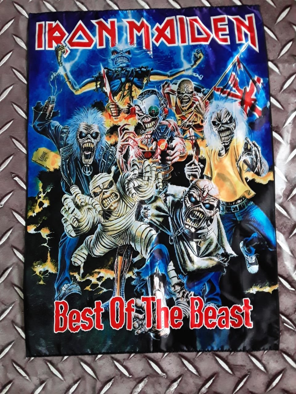 IRON MAIDEN - Best of the beast FLAG Heavy death metal cloth poster