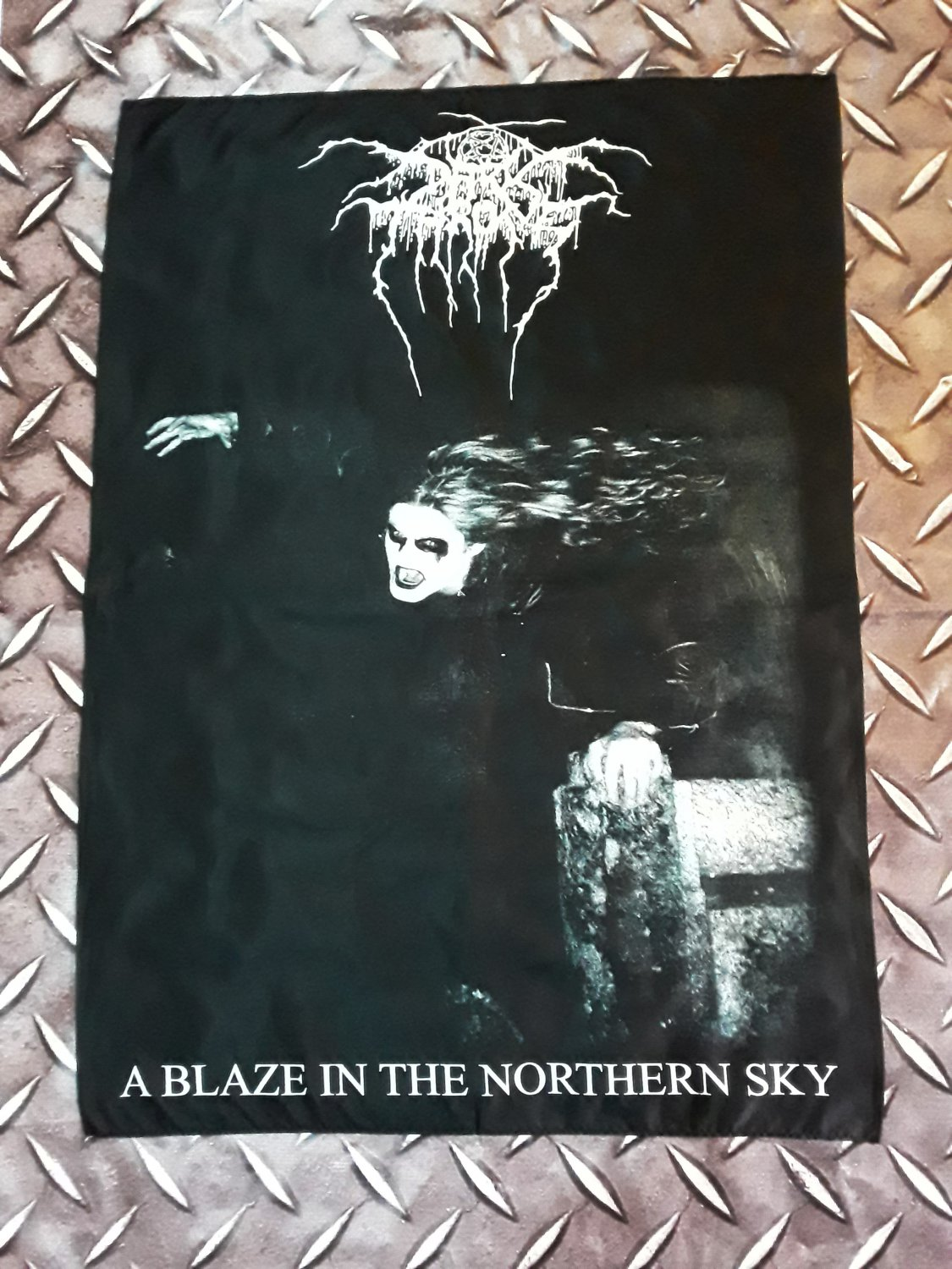 DARKTHRONE - A blaze in the northern sky FLAG Heavy death metal cloth poster