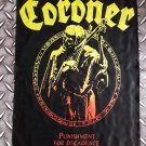 CORONER - Punishment for decadence POSTER FLAG Heavy death metal cloth poster