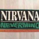 Nirvana - Nevermind Rubber BACK PATCH vintage 80's 90's very rare collection