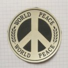 World Peace Hippie Rubber patch vintage 80's 90's very rare collection