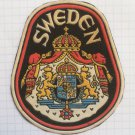 Sweden shield Vintage rubber patch very rare countries collection
