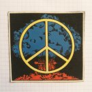 Peace sign Hippie Vintage rubber patch very rare