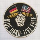 Harley Davidson Motorcycles - Ride hard live free Vintage rubber patch rare