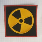 Radiation sign Vintage rubber patch very rare
