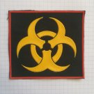 Biohazard sign Vintage rubber patch very rare