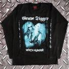 GRAVE DIGGER - Witch hunter Long sleeve shirt Black (L) NEW heavy thrash death metal
