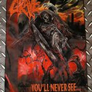 GRAVE - You'll never see FLAG Heavy death black metal cloth poster