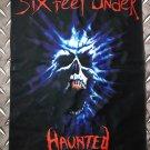 SIX FEET UNDER - Haunted FLAG Heavy death thrash metal cloth poster