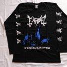 MAYHEM - De mysteriis dom sathanas Long sleeve shirt Black (L) NEW Black Metal Euronymous