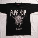 AURA NOIR - The Stalker T-shirt NEW Black (S) Thrash Black metal Euronymous Varg Vikernes