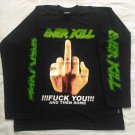 OVERKILL - Fuck you Long sleeve shirt Black (L) NEW Thrash Metal Nuclear Assault