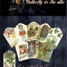 Digital Christmas Gift Tags Set 2 - 9 Old Fashioned Holiday Images - PRINTABLE DOWNLOAD