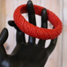 Spicy Red Woven Bangle Bracelet this Vintage Bracelet would be a perfect access