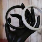 Black Bangle Bracelet White Bangle Bracelets Set of Vintage Plastic Stackable
