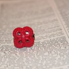 Twisted and Turned Red Knot Handmade Statement Ring