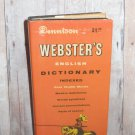 Webster's English Dictionary Indexed - Vest Pocket Book - Compact 1962 Orange