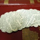 25 Handmade Scalloped Circles From Vintage Dictionary 1950 Scrap Booking Supply