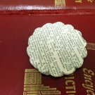 50 Handmade Scalloped Circles From Vintage Dictionary 1950 Scrap Booking Supply