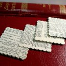 50 Handmade Scalloped Squares From Vintage Dictionary 1950 Scrap Booking Supply