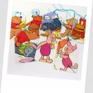 8 Disney Gift Tags - Winnie the Pooh, Piglet and Eeyore - Upcycled - Handmade