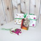 Fuzzy Little Monsters from Serendipity Book Kartusch & Purple Dragon Gift Tags