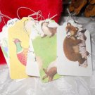 Woodland Creatures from the Disney Book Bambi - 15 Handmade Upcycled Gift Tags