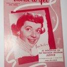 1955 Sheet Music Hard To Get Gisele MacKenzie - Piano - Pop Culture