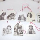 Set of 24! Handmade Christmas Gift Tags Cats, Kittens , Puppies and Dogs