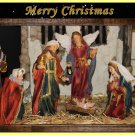 Handmade Christmas Cards Set of 5,  Fine Art Photograph Nativity Scene, Holiday Greeting Card