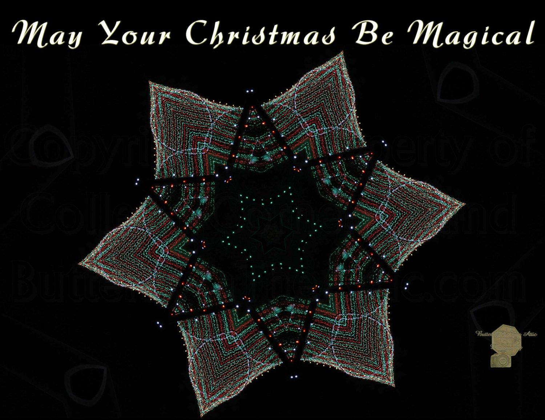 Handmade Christmas Cards Set of 5, A Ripple of Christmas Cheer Fine Art Photography