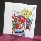 Handmade Children's Birthday Card Nickelodeon SpongeBob Square Pants & Friends
